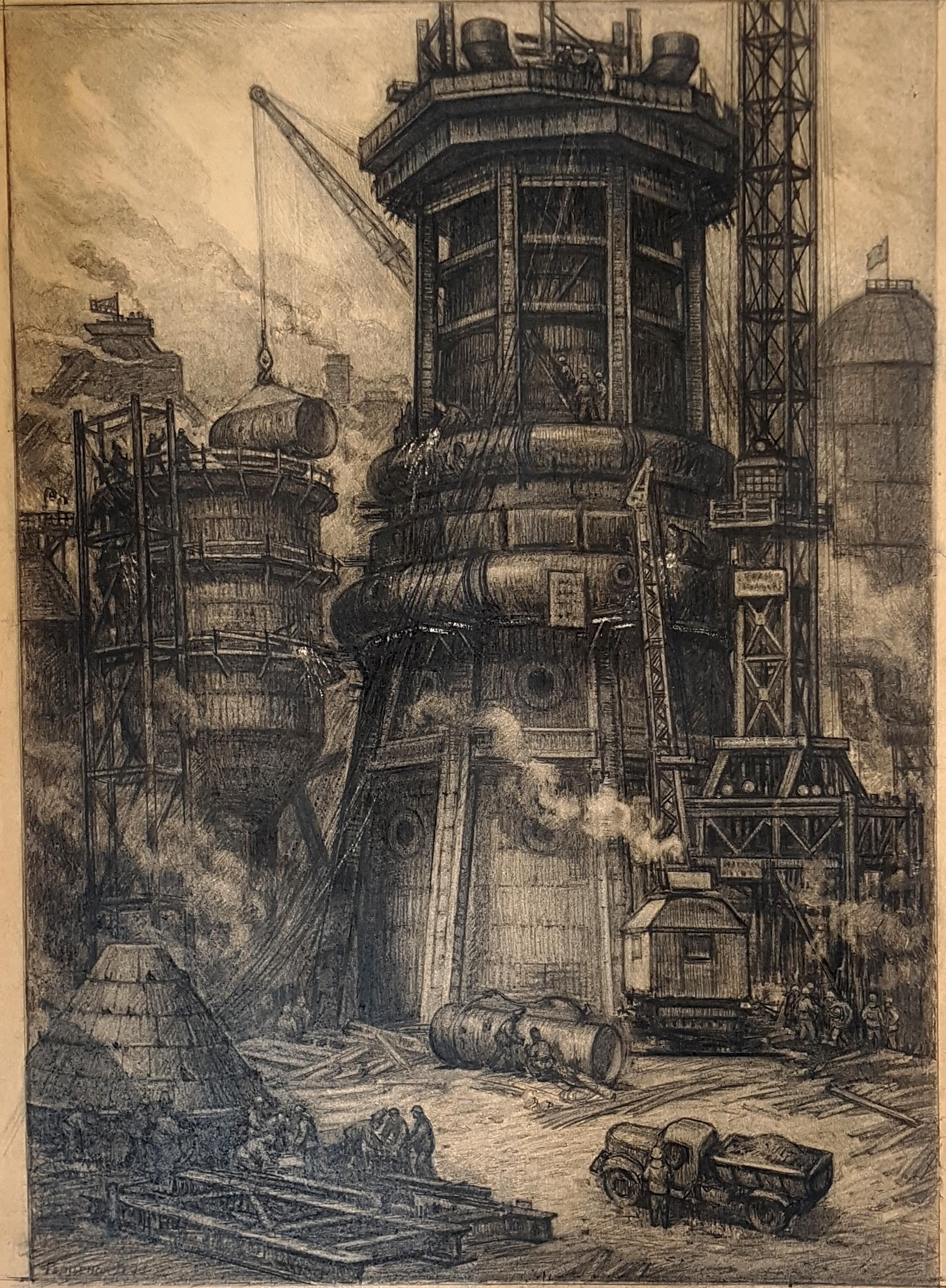 Construction of blast furnace